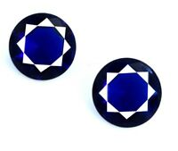 Natural Blue Tanzanite Gemstone 4.35 Ct Round 8 x 8 mm Matching Pair Certified
