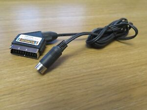 Tandy TRS-80 model 1 video lead / cable, 5-pin DIN plug to TV Monitor SCART plug