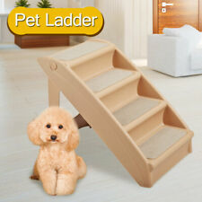 Foldable Pet Stairs Non-slip 4 Steps Dog Cat up to 110 Pounds w/Support Frame
