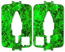 Traxxas T-maxx 3.3 - Chassis Plate Protector Kit - Green Flames TRA 4907