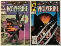Marvel Comics Presents # 1 and 2 Wolverine, Man-Thing, Master Of Kung Fu App VF+