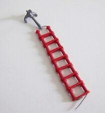 PLAYMOBIL (AA120) DINOSAURES - Echelle de Corde Rouge Fixée à un Grappin 3170