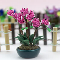 1/12 Dollhouse Miniature Butterfly Orchid Flower Plant Garden Accessory