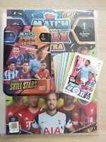 Match Attax EXTRA 2020/21 bundle inc 100 cards empty mega tin and binder