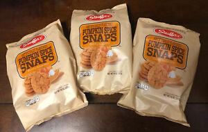 3x Stauffer's Pumpkin Spice Snaps Cookies Original Recipe, 14 Oz. (Exp 4/16/22)