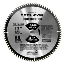 "Circular Saw Blade 12"" x1"" 1 pc 80T Carbide Tip Table for DeWalt SKIL & Makita"