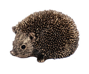 Hedgehog Figurine Made Of Resin & Bronze Deco Small Decorative Figures Handmade