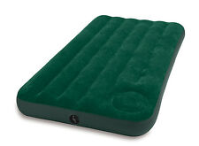 Intex Twin Inflatable Downy Outdoor Camping Air Mattress with Built-In Foot Pump