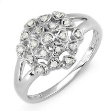 Diamond Cocktail Right Hand Ring 0.20 Ct Sterling Silver Ladies Round