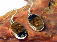 PICASSO  JASPER   Sterling  Silver  925  Gemstone  EARRINGS  -  Gift  Boxed