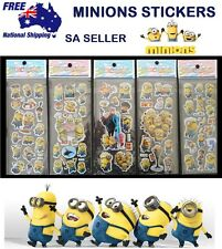 Minions despicable me sticker sheets 3D stickers party birthday lolly loot bag