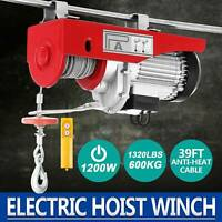 1320Lbs Electric Hoist Engine Crane Overhead Ceiling Automotive With Remote USA