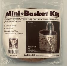 Mini Basket Kit Wall Pouch with Curls Reed Creations by Jadvick 1992 New