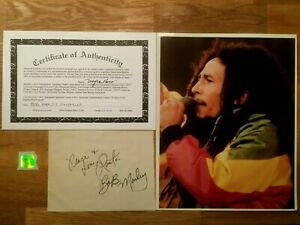 Bob Marley Autograph Signature Original with Certificate Of Authenticity - RARE
