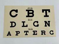 Vintage 70s Optical Eye Medical Chart medical doctor