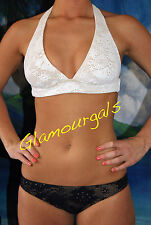 New Famous Catalog Victorias Secret Beach Sexy Crochet Bikini Sz. XS  X-SMALL