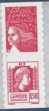 FRANCE AUTOADHESIF N°   43 ( 3716 ) P43, Paire V2 ** MNH, Marianne d'Alger, TB