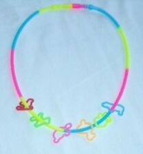 12 pieces Assort Color Glow in the Dark Rubber Band Crazy Bandz Silly Necklace *