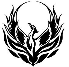 10 cm Vinyl  Phoenix Decal - Choose colour