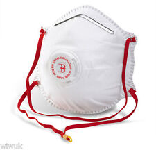 FFP2 P2 Valved Disposable Dust Half Mask Respirator x 10 masks