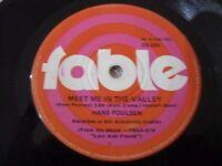 Hans Poulsen Vinyl 45 Meet Me In The Valley Fable Records FB-098