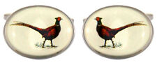 Pair of Oval Pheasant Country Cufflinks in a lovely gift box - game day shooting