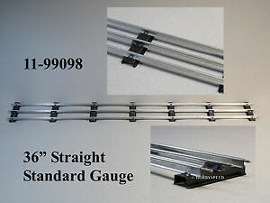 "MTH LIONEL CORPORATION 36"" STRAIGHT STANDARD GAUGE TUBULAR TRACK 11-99098 NEW"