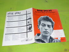 BOB DYLAN - THE TIME THEY ARE CHANGIN - ORIGINAL MUSIC SCORE!!!!!!!!!!!!!!!!