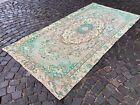 Oushak rugs, Turkish rug, Vintage rug, Handmade rug, Large, Wool   4,6 x 9,4 ft