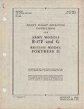 1943 AAF BOEING B-17F,G FLYING FORTRESS BOMBER PILOTS FLIGHT MANUAL HANDBOOK-CD