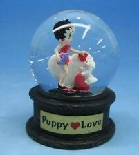 BETTY BOOP PUPPY LOVE WITH PUDGY MINI WATER DOME