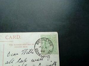 Edwardian postcard with Eckington village cds pmk posted to Elsecar in 1908