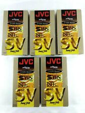 JVC 5xCassette video Neuves Super VHS SV 180  Envoi rapide et suivi