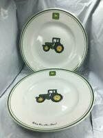 Gibson John Deere dinner Serving Plates 11 inch  Set of 2 Free Shipping