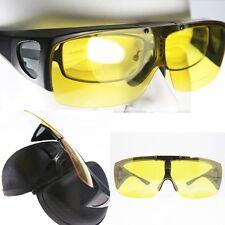 Night Driving Polarized Fit over wraparound Sunglasses Flip up eyeglass Goggles