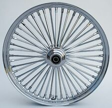 "Chrome Ultima 48 King Spoke 21"" x 2.15"" Front Wheel for Harley and Custom Models"