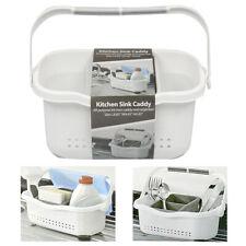 1 Kitchen Sink Caddy Sponge Holder Storage Organizer Soap Drainer Rack Strainer