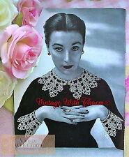 Vintage Tatting Pattern Exquisite Lace Collar & Cuff Set. Just No UK