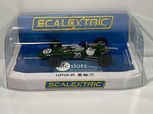 Scalextric C4195 Lotus 25 Britannique Gt 1962 Jim Clark Neuf Emballé