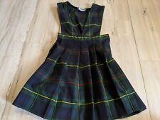 Becky Thatcher elderwear school uniform jumper navy green plaid girl sz 5