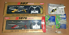 Lot of 3 RC  Gyro Helicopter Syma S107G S107 Stinger Metal Mini