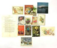 Swedish Sweeden Vintage Christmas Congratulation Card Ephemera lot of old Paper