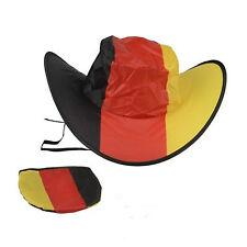 Deutschland Fanhut Faltbar inkl. Tragetasche Fussball  Schwarz-Rot-Gold Neu
