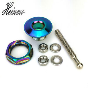 Neo Chrome Universal Auto Push Button Billet Hood Pins Lock Clip Quick Release