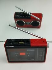 Rare Vintage Video Concepts Red portable cassette player w/ speakers AR-70R