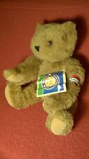 "15"" VERMONT TEDDY BEAR JOINTED BROWN ""BETH"" plush stuffed animal toy w/tag"