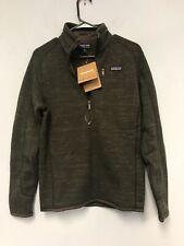 Patagonia Men's Better Sweater Full 1/4-Zip Dark Olive Green / Brown Size XS