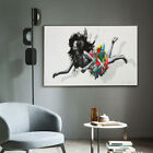 Girl With Disheveled Hair Graffiti Artwork Canvas Wall Art Prints Pictures Decor