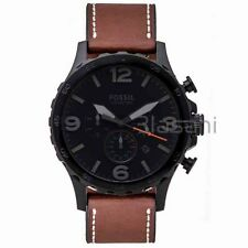 Fossil Original JR1524 Men's Nate Brown Leather Watch 50mm Chronograph