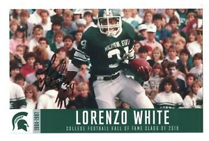 LORENZO WHITE MICHIGAN STATE SPARTANS 8.5x5.5 AUTOGRAPHED PHOTO SIGNED HOF 2019